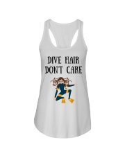 Dive hair don't care Ladies Flowy Tank thumbnail