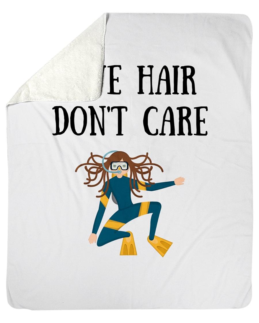 "Dive hair don't care Sherpa Fleece Blanket - 50"" x 60"""
