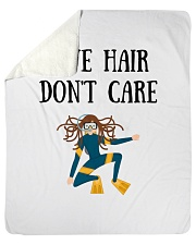 "Dive hair don't care Sherpa Fleece Blanket - 50"" x 60"" thumbnail"