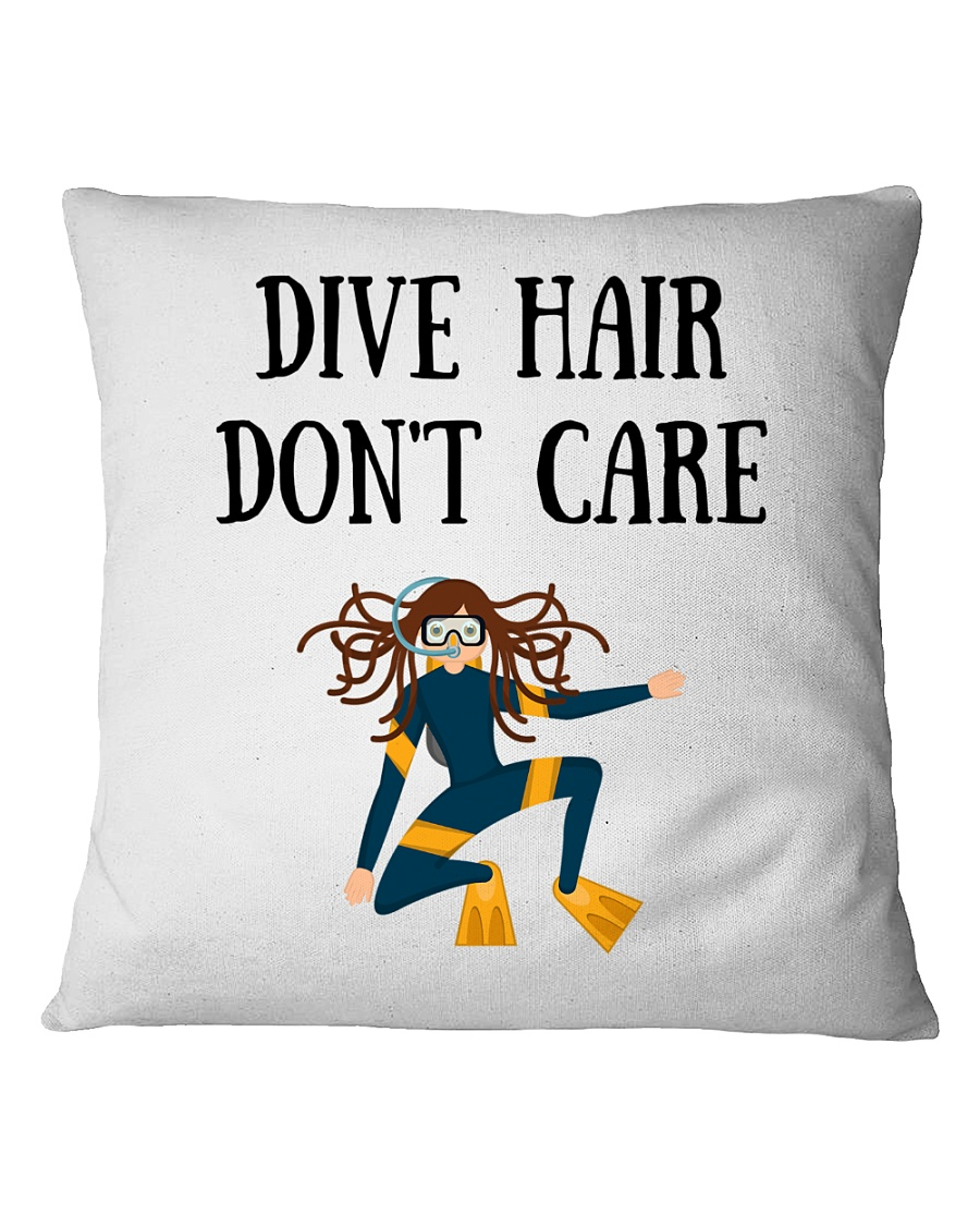 Dive hair don't care Square Pillowcase