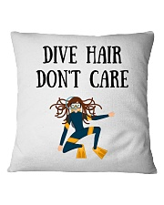 Dive hair don't care Square Pillowcase front
