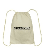 Freediving is my second favorite F-word Drawstring Bag thumbnail