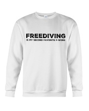 Freediving is my second favorite F-word Crewneck Sweatshirt thumbnail