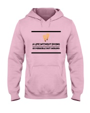 A life without diving is possible but boring Hooded Sweatshirt front
