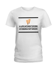 A life without diving is possible but boring Ladies T-Shirt thumbnail