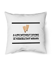 "A life without diving is possible but boring Indoor Pillow - 16"" x 16"" thumbnail"