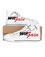 DJ Max Gain Men's High Top White Shoes inside-right-outside-right