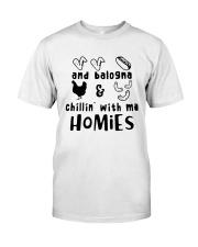 and balogna chilin with ma Premium Fit Mens Tee thumbnail