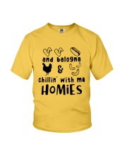 and balogna chilin with ma Youth T-Shirt front