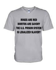 ROSES ARE RED V-Neck T-Shirt thumbnail