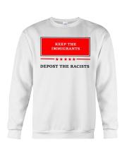 DEPOST THE RACISTS Crewneck Sweatshirt thumbnail