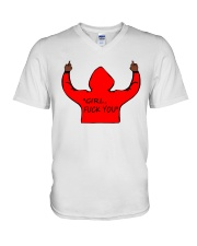 ONLY 16 TOAY- GRIL FUK YOU V-Neck T-Shirt thumbnail