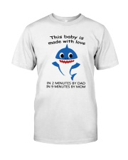 this baby is made with love Classic T-Shirt thumbnail