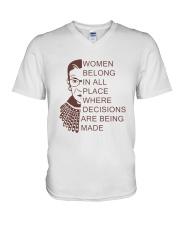 WOMEN BELONG IN PLACE V-Neck T-Shirt thumbnail