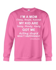 Only 17 today- I'm a mom Crewneck Sweatshirt thumbnail