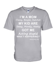 Only 17 today- I'm a mom V-Neck T-Shirt thumbnail