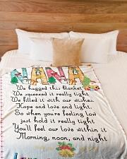 """blanket Large Fleece Blanket - 60"""" x 80"""" aos-coral-fleece-blanket-60x80-lifestyle-front-02"""