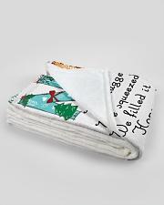 """blanket Large Fleece Blanket - 60"""" x 80"""" aos-coral-fleece-blanket-60x80-lifestyle-front-09B"""