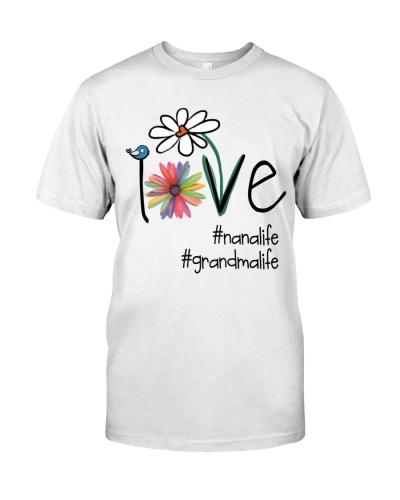 Love Nana - Grandma Life - Flower Art