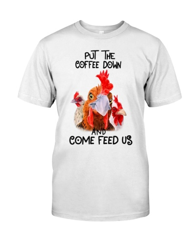 Put the coffe down and come feed us