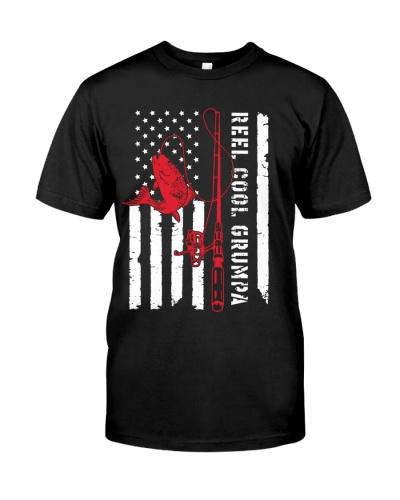 Reel Cool Grumpa - American Flag