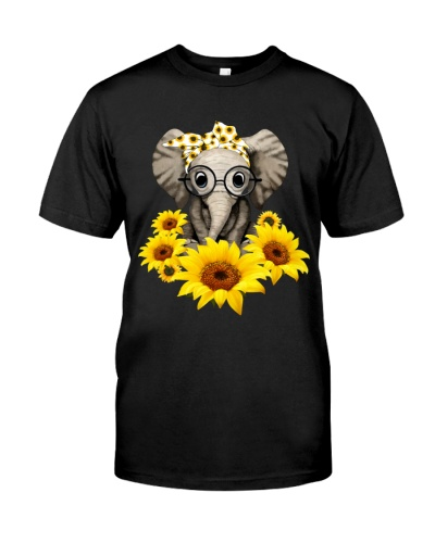 Elephant Sunflower Cute