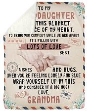 "To My Granddaughter Large Sherpa Fleece Blanket - 60"" x 80"" thumbnail"