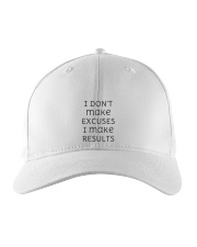 I DON'T make EXCUSES I make RESULTS Aperal Embroidered Hat thumbnail