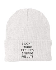 I DON'T make EXCUSES I make RESULTS Aperal Knit Beanie thumbnail