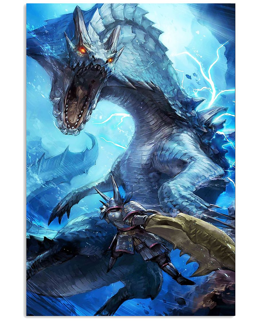 Monster Hunter World Graphic Video Game Poster 11x17 Poster