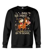 Born To Ride Horses Crewneck Sweatshirt thumbnail