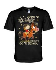Born To Ride Horses V-Neck T-Shirt thumbnail