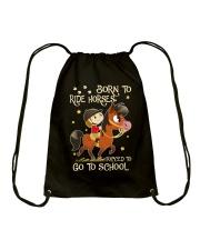 Born To Ride Horses Drawstring Bag thumbnail