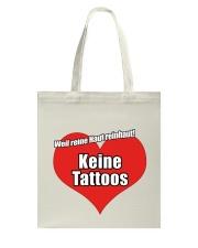 Tattoofrei Turnbeutel - Tasche Tote Bag thumbnail