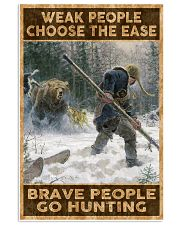 BRAVE PEOPLE GO HUNTING 24x36 Poster front