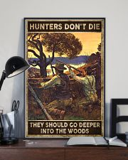 Hunters don't die They go deeper into the woods 24x36 Poster lifestyle-poster-2