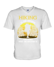Hiking is the answer V-Neck T-Shirt thumbnail