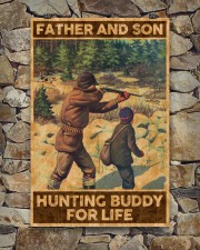 FATHER AND SON HUNTING BUDDY FOR LIFE 24x36 Poster aos-poster-portrait-24x36-lifestyle-16