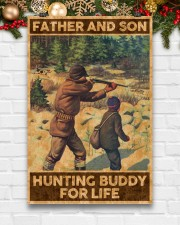 FATHER AND SON HUNTING BUDDY FOR LIFE 24x36 Poster aos-poster-portrait-24x36-lifestyle-21