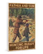 FATHER AND SON HUNTING BUDDY FOR LIFE 24x36 Gallery Wrapped Canvas Prints thumbnail