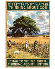 I SIT IN CHURCH THINKING ABOUT HUNTING 24x36 Poster front