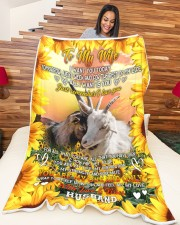 """YOU ARE MY ONE AND ONLY Large Fleece Blanket - 60"""" x 80"""" aos-coral-fleece-blanket-60x80-lifestyle-front-04a"""