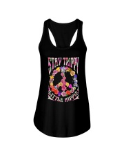 STAY TRIPPY LITTLE HIPPIE Ladies Flowy Tank thumbnail