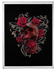 """BLOOD ROSE AND SKULL  BLANKET Small Fleece Blanket - 30"""" x 40"""" thumbnail"""