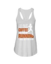 coffee running Ladies Flowy Tank thumbnail