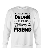 If Lost or Drunk Crewneck Sweatshirt thumbnail