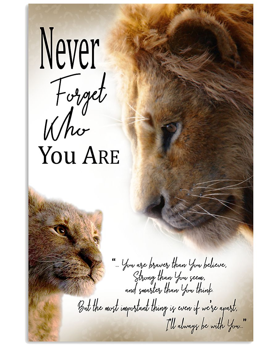 NEVER FORGET WHO YOU ARE 11x17 Poster
