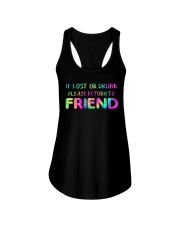 IF LOST OR DRUNK Ladies Flowy Tank front