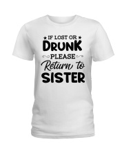 IF LOST OR DRUNK Ladies T-Shirt thumbnail