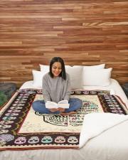 "I AM THE STORM GIRL- SKULL BLANKET  Large Sherpa Fleece Blanket - 60"" x 80"" aos-sherpa-fleece-blanket-60x80-lifestyle-front-08"